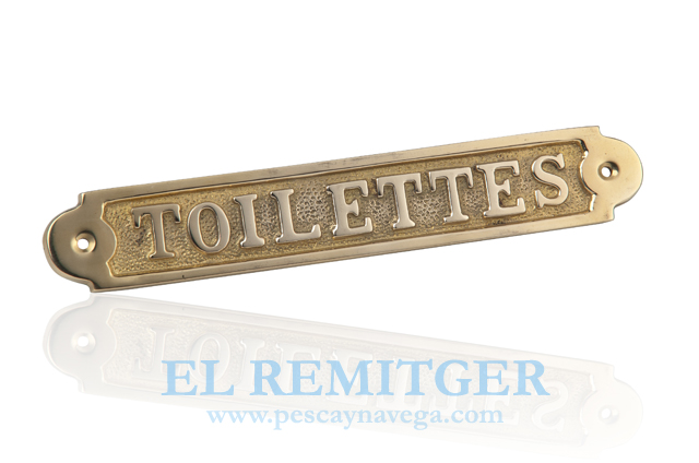"BRASS PLATE ""TOILETTES"""