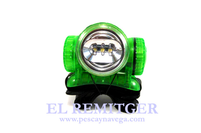 LINTERNA FRONTAL 3 LEDS SUMERGIBLE