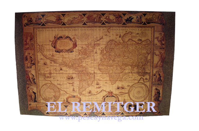 NAVIGATION CHART WORLD MAP DECORATION