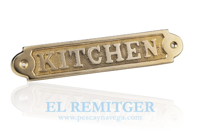 "BRASS PLATE ""KITCHEN"""