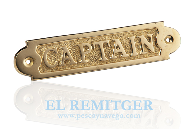 "BRASS PLATE ""CAPTAIN"""