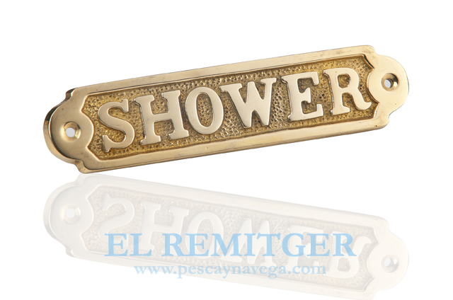 "BRASS PLATE ""SHOWER"""