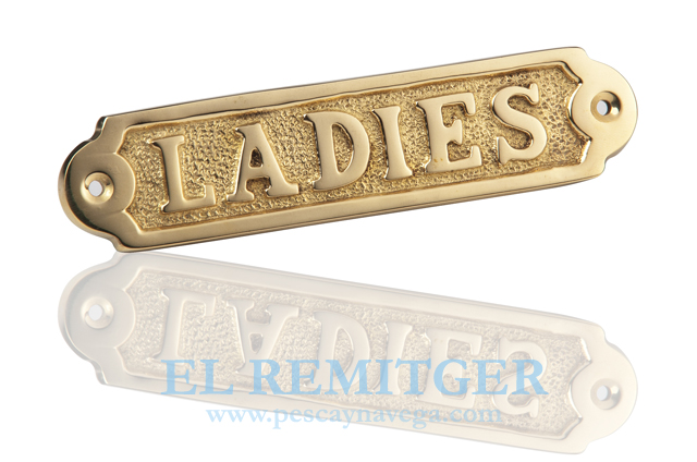 "BRASS PLATE ""LADIES"""