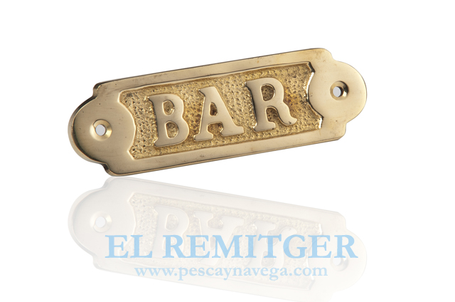 "BRASS PLATE ""BAR"""