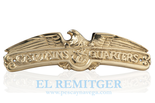 "BRASS PLATE ""CAPTAIN'S QUARTER"""